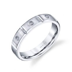 Modern Men's Wedding BandStyle #: MARS G110