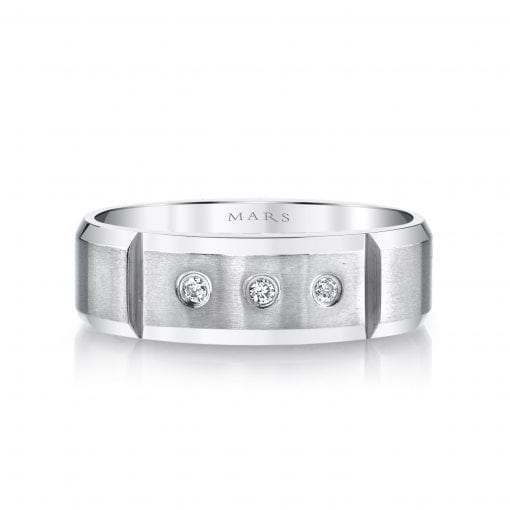 Modern Diamond Men's Wedding BandStyle #: MARS G111