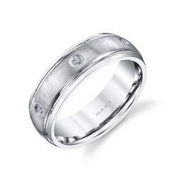 Modern Diamond Men's Wedding Band<br>Style #: MARS G112