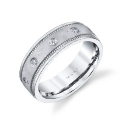 Modern Diamond Men's Wedding Band<br>Style #: MARS G113