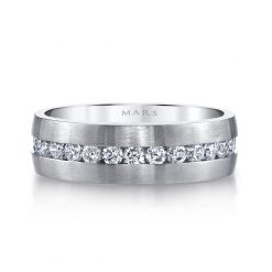 Modern Diamond Men's Wedding Band<br>Style #: MARS G117