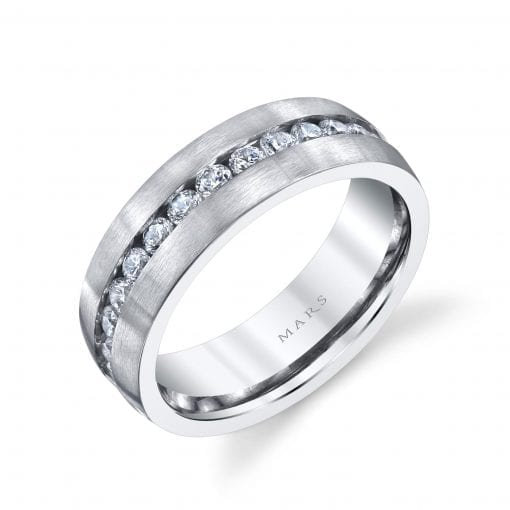 Modern Diamond Men's Wedding BandStyle #: MARS G117