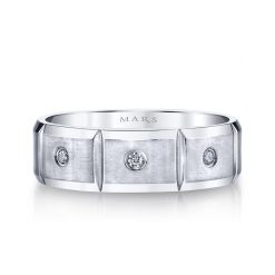 Modern Diamond Men's Wedding BandStyle #: MARS G118