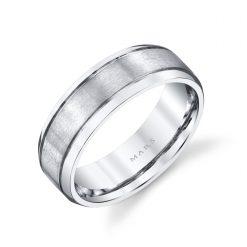 Modern Men's Wedding Band<br>Style #: MARS G126