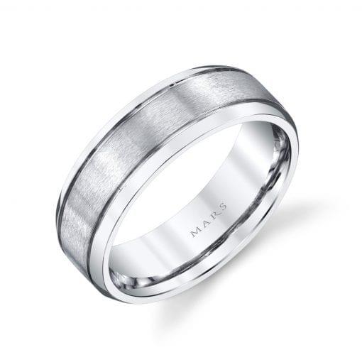 Modern Men's Wedding BandStyle #: MARS G126