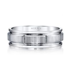 Modern Men's Wedding Band<br>Style #: MARS G130