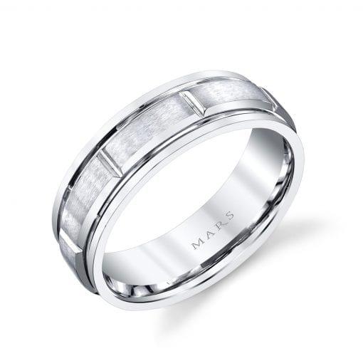 Modern Men's Wedding BandStyle #: MARS G130