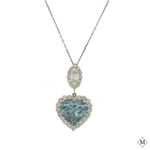 Blue Diamond NecklaceStyle #: MDPND9993
