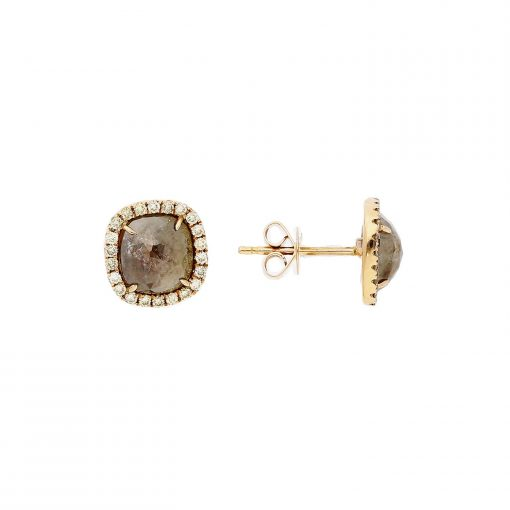 Rose Cut Diamond EarringsStyle #: PD-LQ9024E