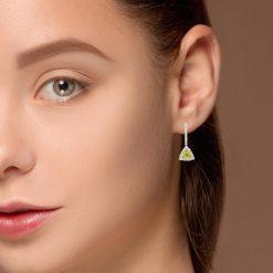 Peridot EarringsStyle #: ANC-L1226B