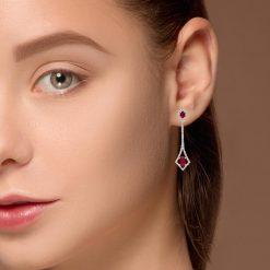 Ruby EarringsStyle #: PD-LQ4712E