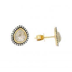 Rose Cut Diamond EarringsStyle #: PD-LQ9256E